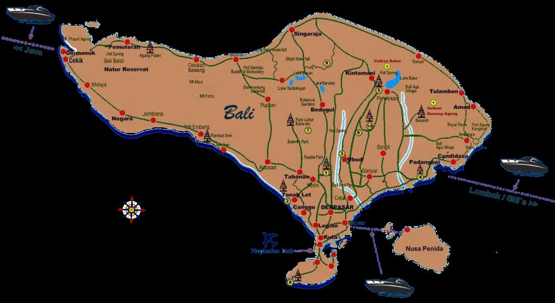 bali map wissenswertes