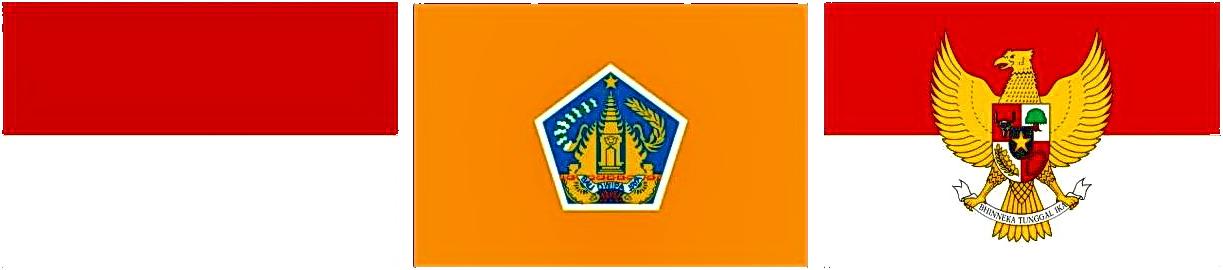 flagge bali indonesien t