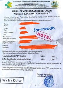 health examination result indonesien