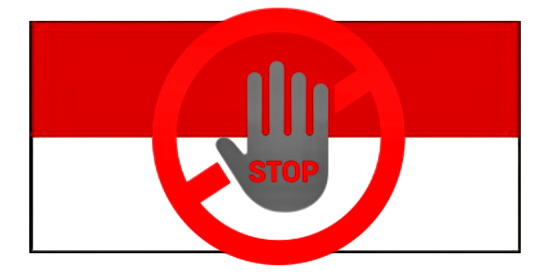 indonesien stop