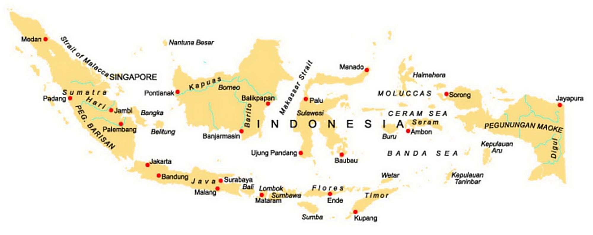 landkarte indonesien g