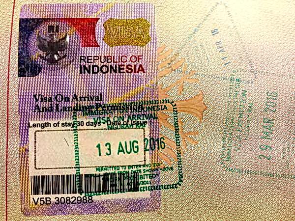 visa on arrival bali
